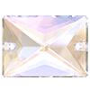 Пришивные прямоугольники Preciosa (Чехия)  25х18 мм, Crystal AB