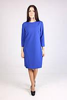 Универсальное прямое женское платье цвета электрик, фото 1