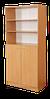 Шкаф книжный полузакрытый 2-дверный  802х403х1816 мм (380мм внутр)