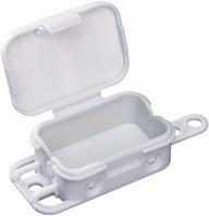 Распределительная коробка Q 4 - L порожня, без клем, 56х40x23 мм, IP 20, IK07, колір сірий