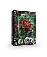 Алмазная живопись Diamond Mosaik DM-02-08  Бабочка на розе 6634