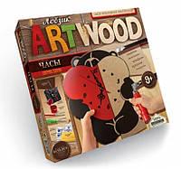 Набор для выпиливания лобзиком ARTWOOD настенные часы (LBZ-01-05). Мишка