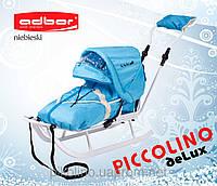 Санки детские ADBOR Piccolino+конверт+капюшон+подножки