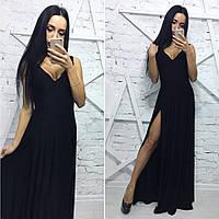 Вечернее платье с разрезом на ноге