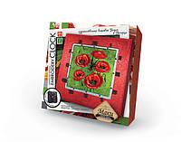 Вышивка гладью и бисером Часы Embroidery Clock Маки