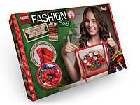 Вышивка сумки лентами Fashion Bag (FBG-01-02) Маки