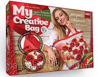 My Creative Bag Вышивка сумки лентами (MCB-01-01) Маки