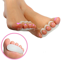 Силиконовые ортопедические подушечки под пальцы стопы, 1пара
