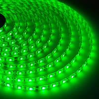 Светодиодная лента SMD 5050, 60 диодов/метр, 12V, 14.4W/m, 18lm, IP265, герметичная, 5 метров, зеленая