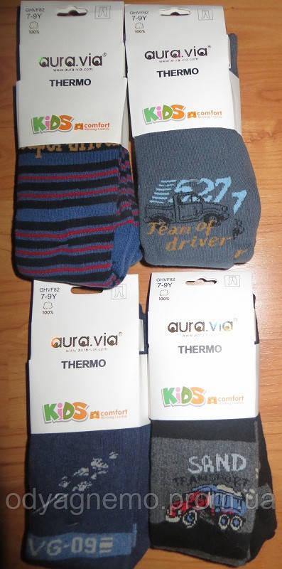 Колготы для мальчиков утепленные Aura.via оптом 1/3-10/12 лет.