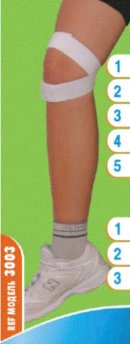 Фиксатор повязка коленного сустава черная. Размер 1,2,3