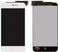 Дисплей (экран) + сенсор (тач скрин) Meizu MX2 white (оригинал)