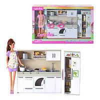 """Игровой набор для девочек """"Кукла на кухне"""" 6085 Defa"""