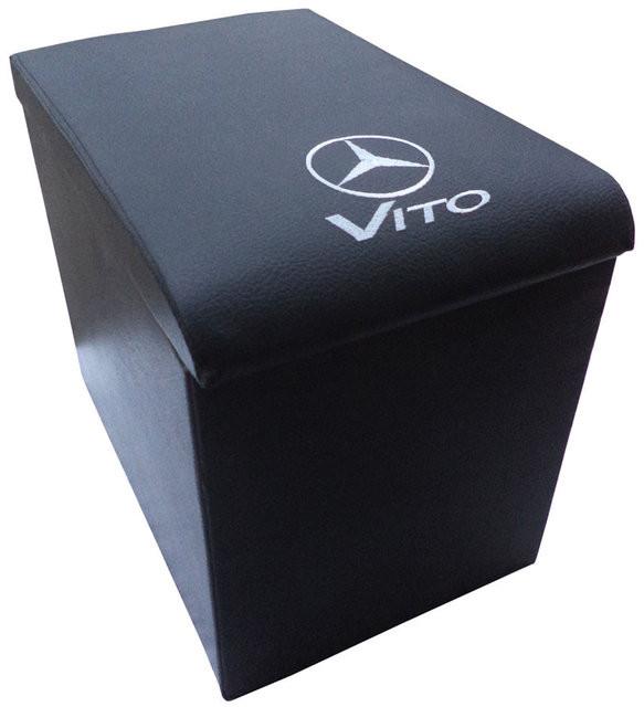 Подлокотник Mercedes Vito (Мерседес Вито) черный с вышивкой