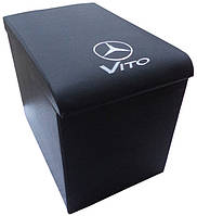 Подлокотник Mercedes Vito (Мерседес Вито) черный с вышивкой, фото 1