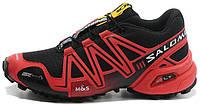 Мужские кроссовки Salomon Speedcross 3 Саломон черные/красные