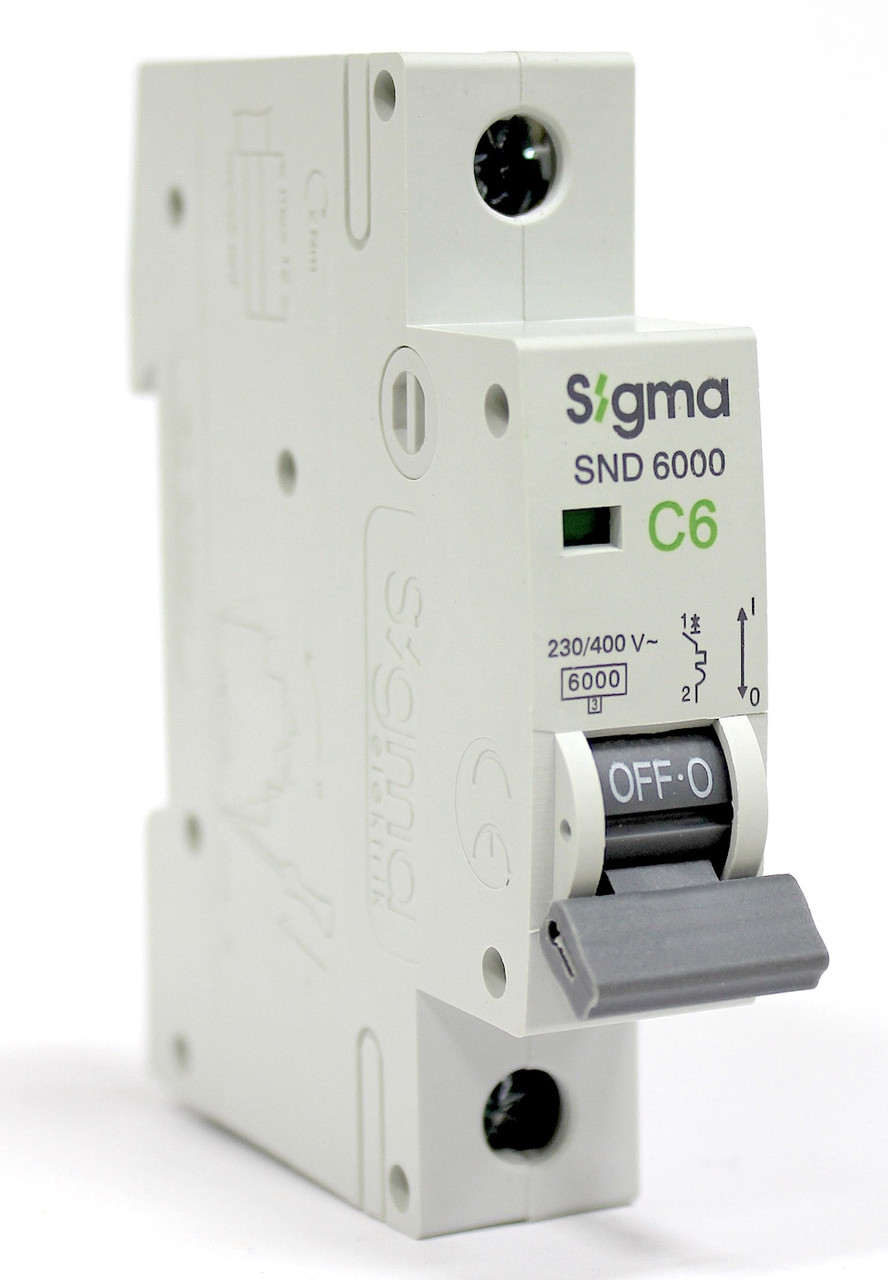 Автоматический выключатель автомат 6 А ампер однофазный однополюсный С C характеристика цена купить Европа