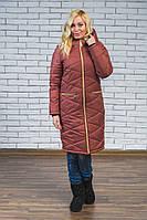 Женское зимнее длинное пальто, фото 1