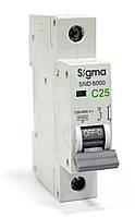Автоматический выключатель автомат 25 ампер А однофазный однополюсный С C характеристика цена купить Европа, фото 1