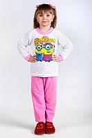 Пижама для девочки Миньоны (Флис)