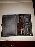 Коробка для алкогольных напитков (Виски, коньяк) с бокалами на подарок