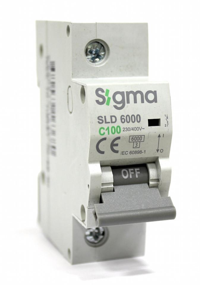 Автоматический выключатель автомат 100 А ампер однофазный однополюсный С C характеристика цена купить Европа