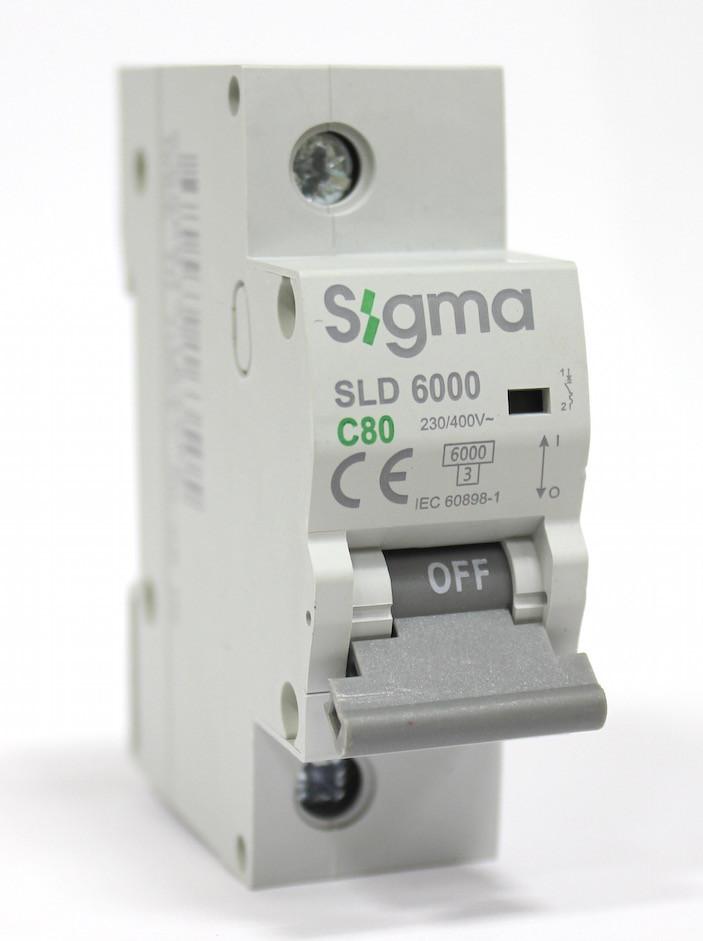 Автоматический выключатель автомат 80 А ампер однофазный однополюсный С C характеристика цена купить
