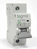 Автоматический выключатель автомат 80 А ампер однофазный однополюсный С C характеристика цена купить, фото 1