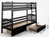 Кровать Бай-бай двухъярусная 80 (Мебигранд/Mebigrand) 860х2020(2120)х1700мм, фото 2
