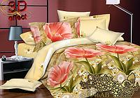 Евро комплект постельного белья Sveline Tekstil S1046АВ (сатин)