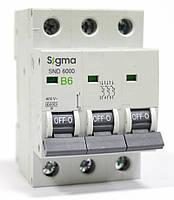 Автоматический выключатель автомат 6 А ампер цена трехфазный трехполюсный В B характеристика