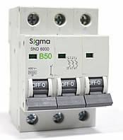 Автоматический выключатель автомат 50 ампер Европа А трехфазный трехполюсный В B характеристика, фото 1