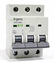 Автоматический выключатель автомат 16 А ампер цена трехфазный трехполюсный В B характеристика, фото 1