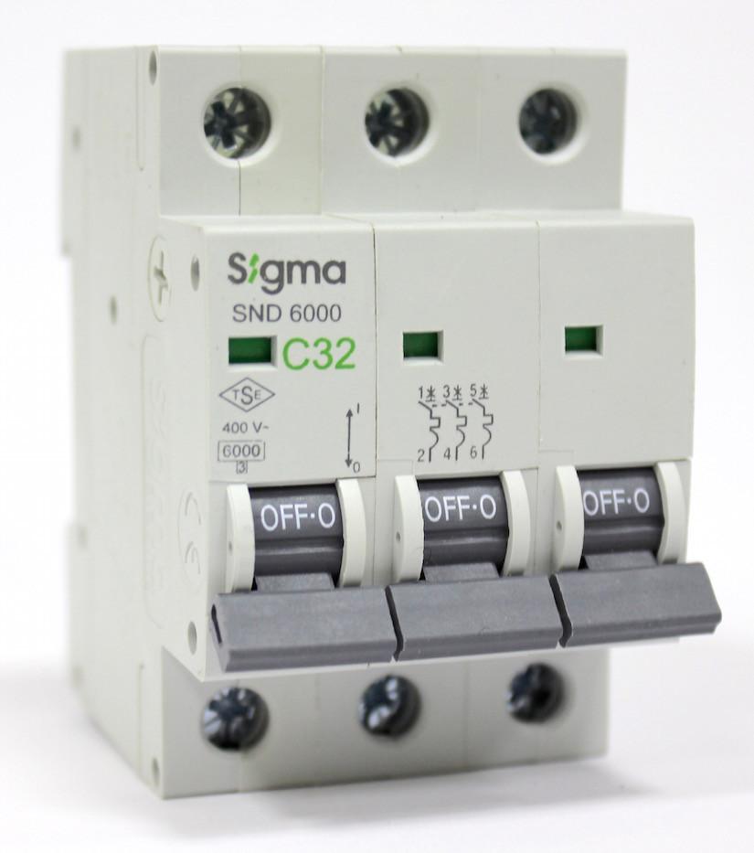 Автоматический выключатель  автомат 25 А ампер трехфазный трехполюсный С C характеристика цена купить