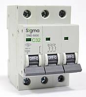 Автоматический выключатель  автомат 25 А ампер трехфазный трехполюсный С C характеристика цена купить, фото 1