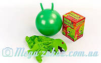 Мяч прыгун c рожками Динозавр (фитбол детский с рожками) 45см