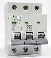 Автоматический выключатель автомат 4 А ампера трехфазный трехполюсный С C характеристика цена купить, фото 1