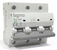 Автоматичний вимикач автомат 80 А ампер трьохфазний Європа трьохполюсний С C характеристика ціна купити