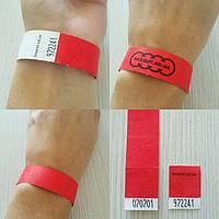 Контрольные неоновые браслеты на руку Tyvek бумажные — 3/4'' (19мм)