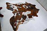 Экзотическая шкура на пол белая с коричневыми крапинками, фото 2