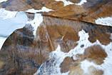 Экзотическая шкура на пол белая с коричневыми крапинками, фото 3