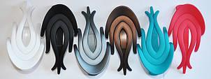 Матовые боковые зажимы для волос (6 шт)