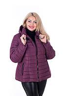 Стильная куртка большого размера Келли марсала (56-66)