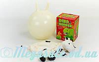 Мяч прыгун c рожками Корова (фитбол детский с рожками) 45см