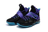 Мужские баскетбольные кроссовки Nike LeBron 14 (Black/Purple Jade), фото 1