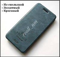 Оригинальный чехол книжка для Xiaomi Redmi 4 Prime чехол MOFI Vintage classical синий
