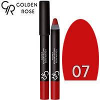 Golden Rose - Губная помада-карандаш Matte Lipstick Crayon Тон 07 red, красная, фото 2