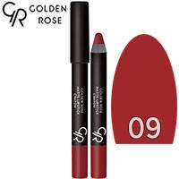 Golden Rose - Губная помада-карандаш Matte Lipstick Crayon Тон 09 terracotta, теракота, фото 2