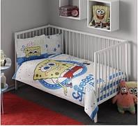 Постельное бельё в детскую кроватку SPONGE BOB BABY