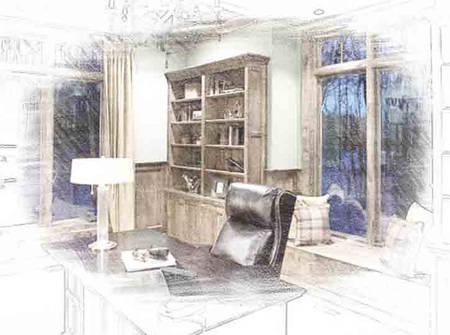 Пошив штор для кабинета